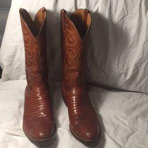 Gorgeous lucchese lizard cowboy boots